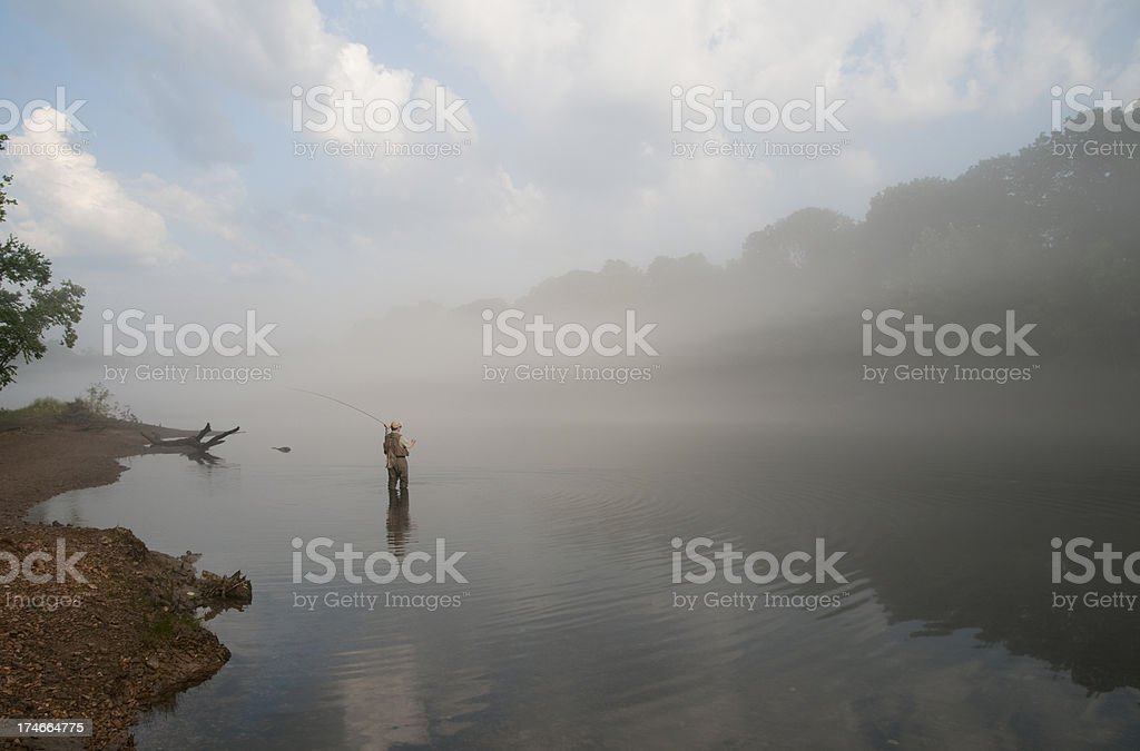 Flyfishermans Fog royalty-free stock photo