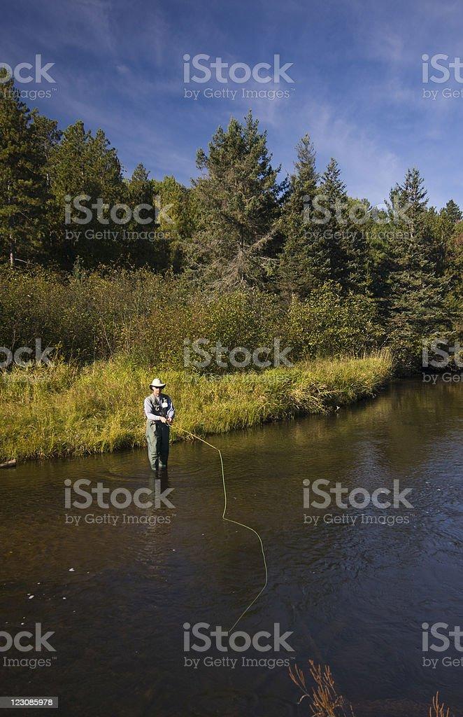 Flyfishing Landscape royalty-free stock photo