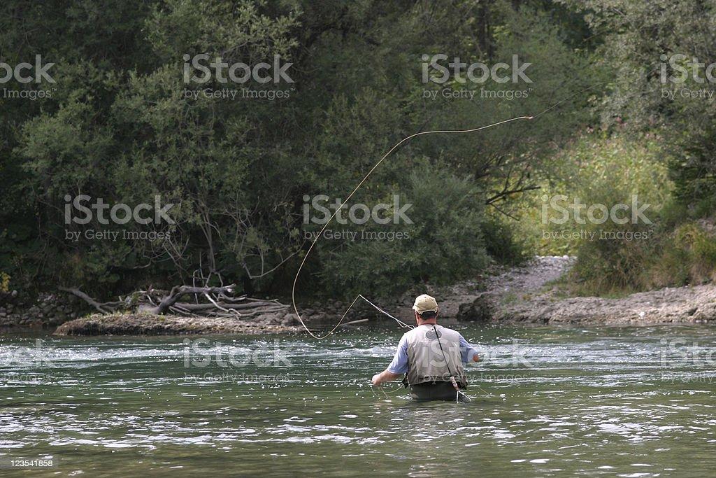 Flyfishing royalty-free stock photo