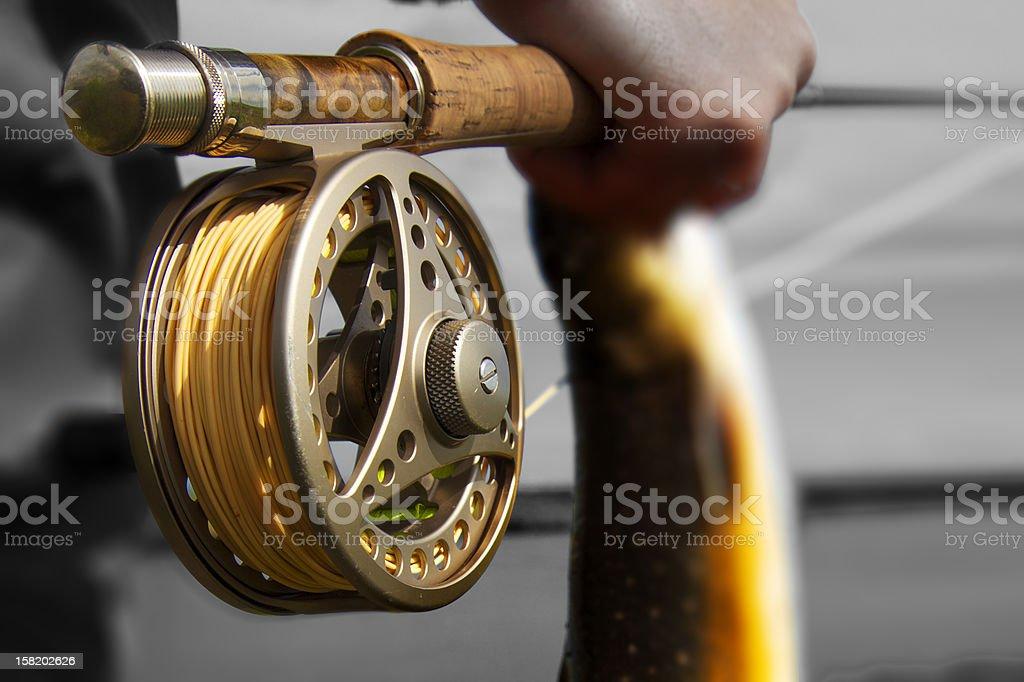 Flyfishing stock photo