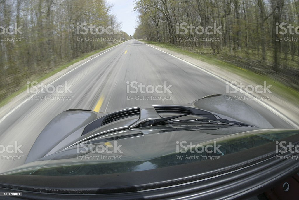 Flyin Down the Back Roads royalty-free stock photo