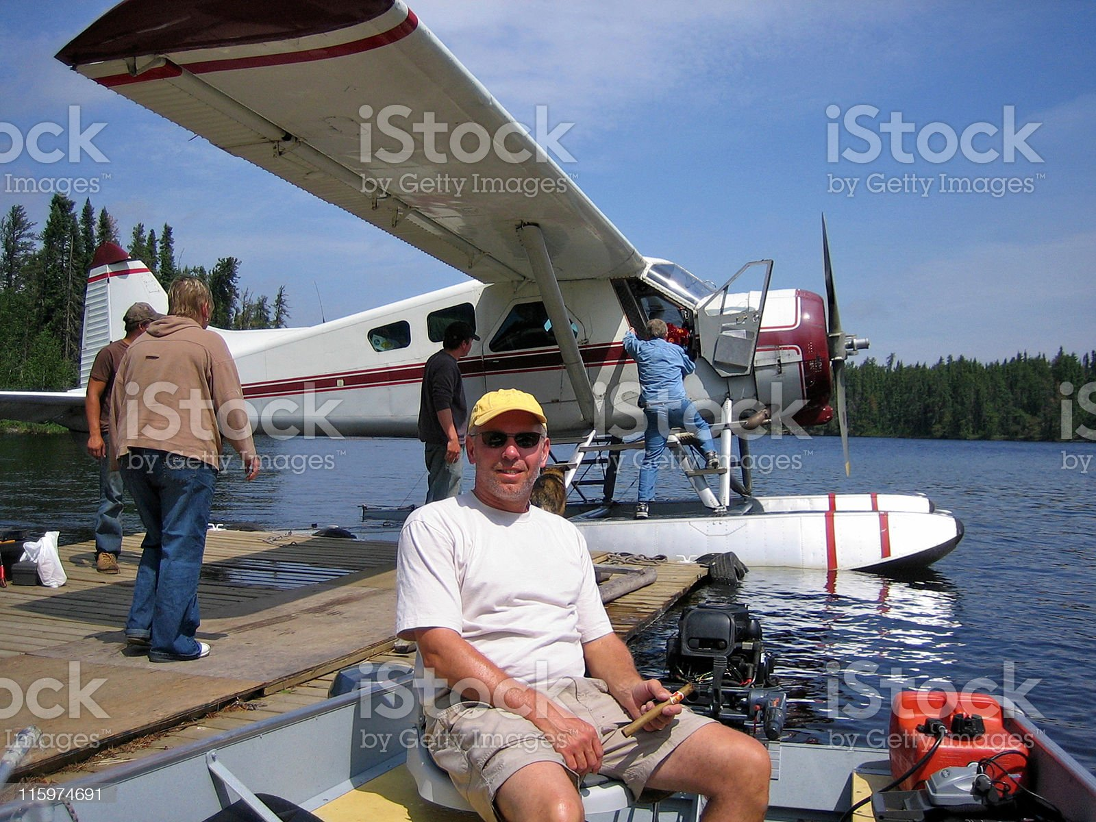 Fly-in fishing royalty-free stock photo