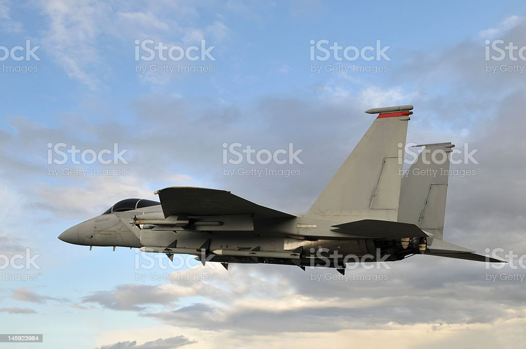Flying a Jet stock photo