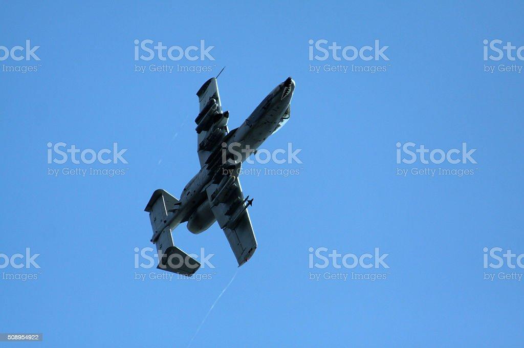 Flying A10 Warthog stock photo
