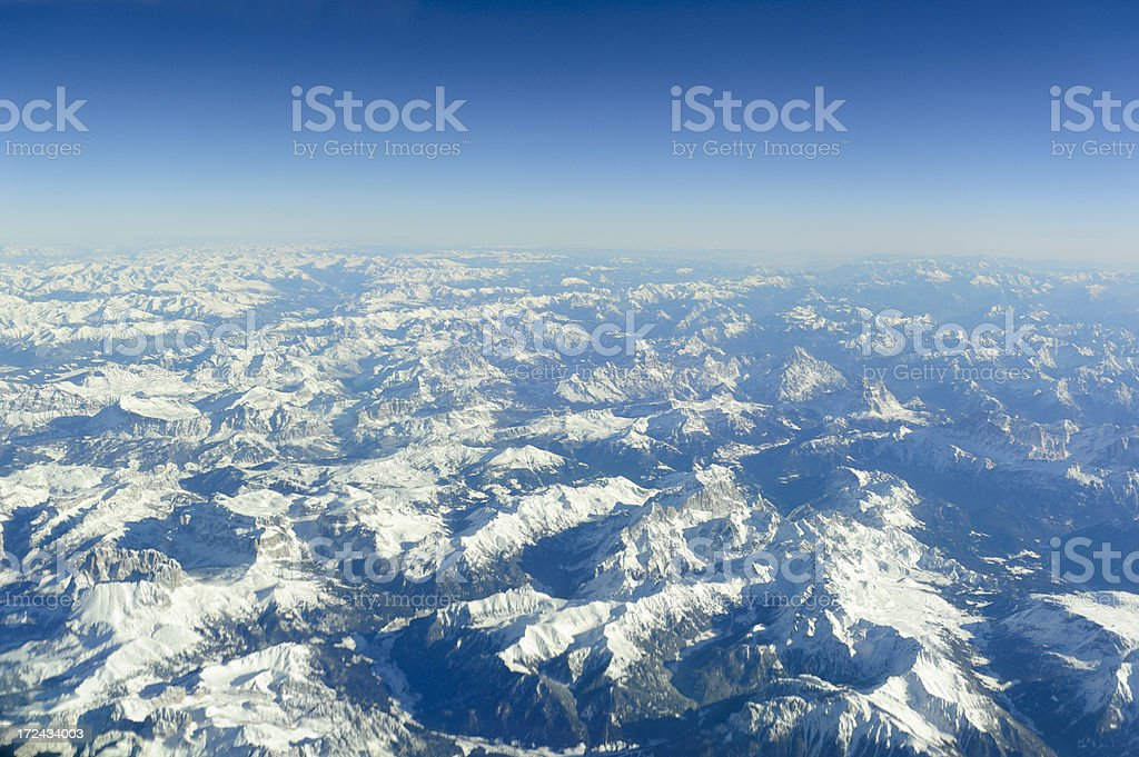 flying above the alps royalty-free stock photo
