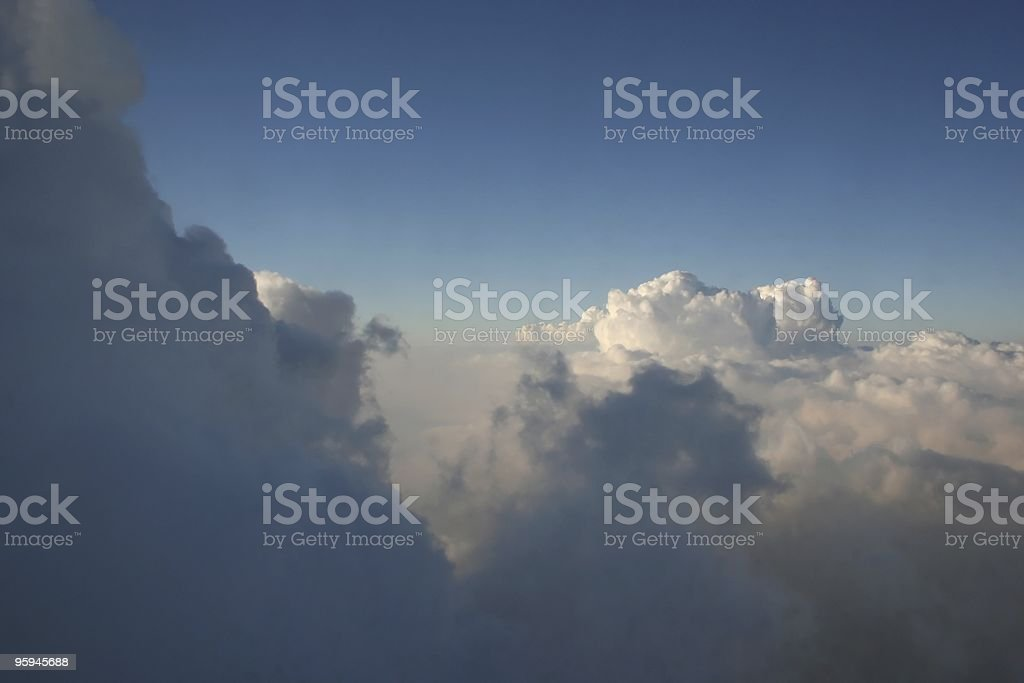 Flying above the clouds royalty-free stock photo