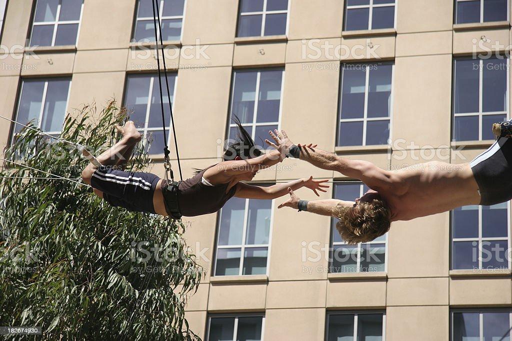 Flying Acrobats_1 stock photo