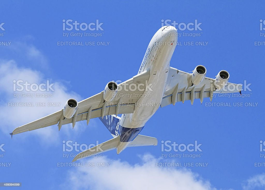 Flying Airbus A380 royalty-free stock photo