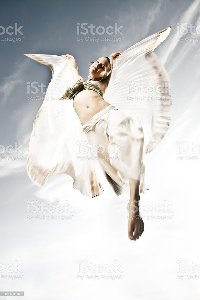 Flying Angel royalty-free stock photo