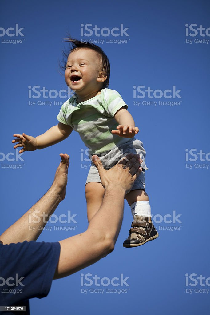 Flying baby royalty-free stock photo