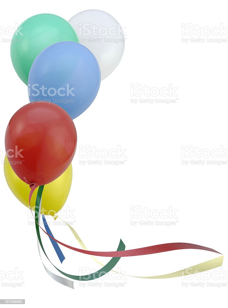 Flying Balloons royalty-free stock photo