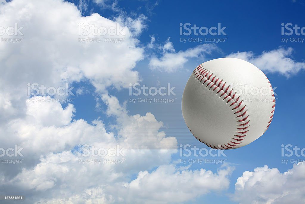 Flying Baseball stock photo