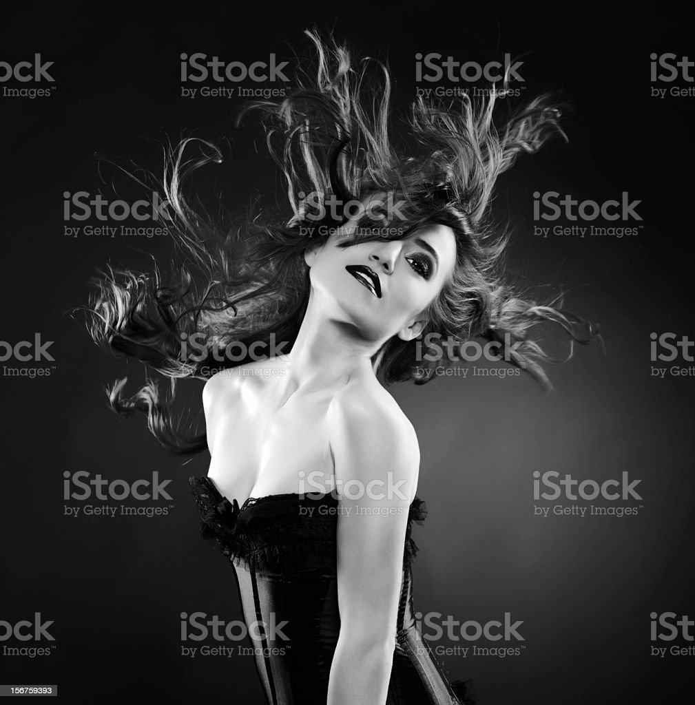 flying beauty royalty-free stock photo