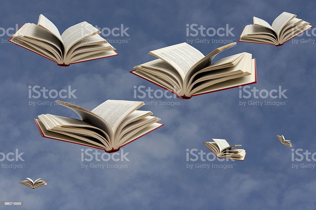 Flying Books royalty-free stock photo