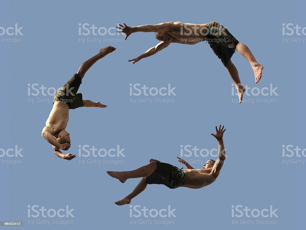 Flying boys royalty-free stock photo