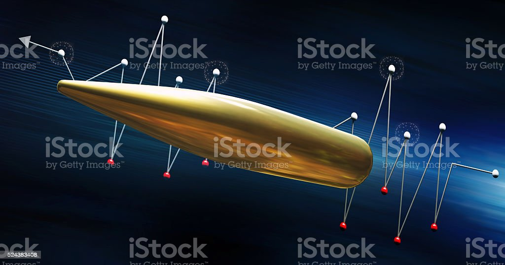 Flying bullet. Growing concept. stock photo
