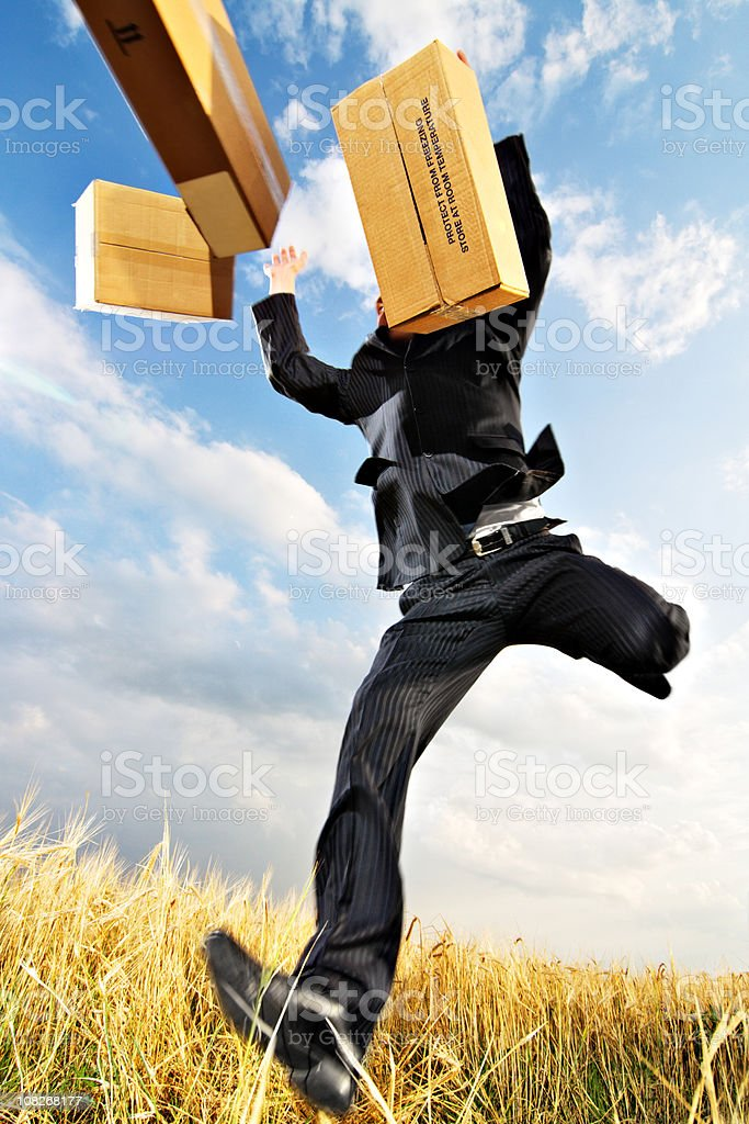 Flying Businessman royalty-free stock photo