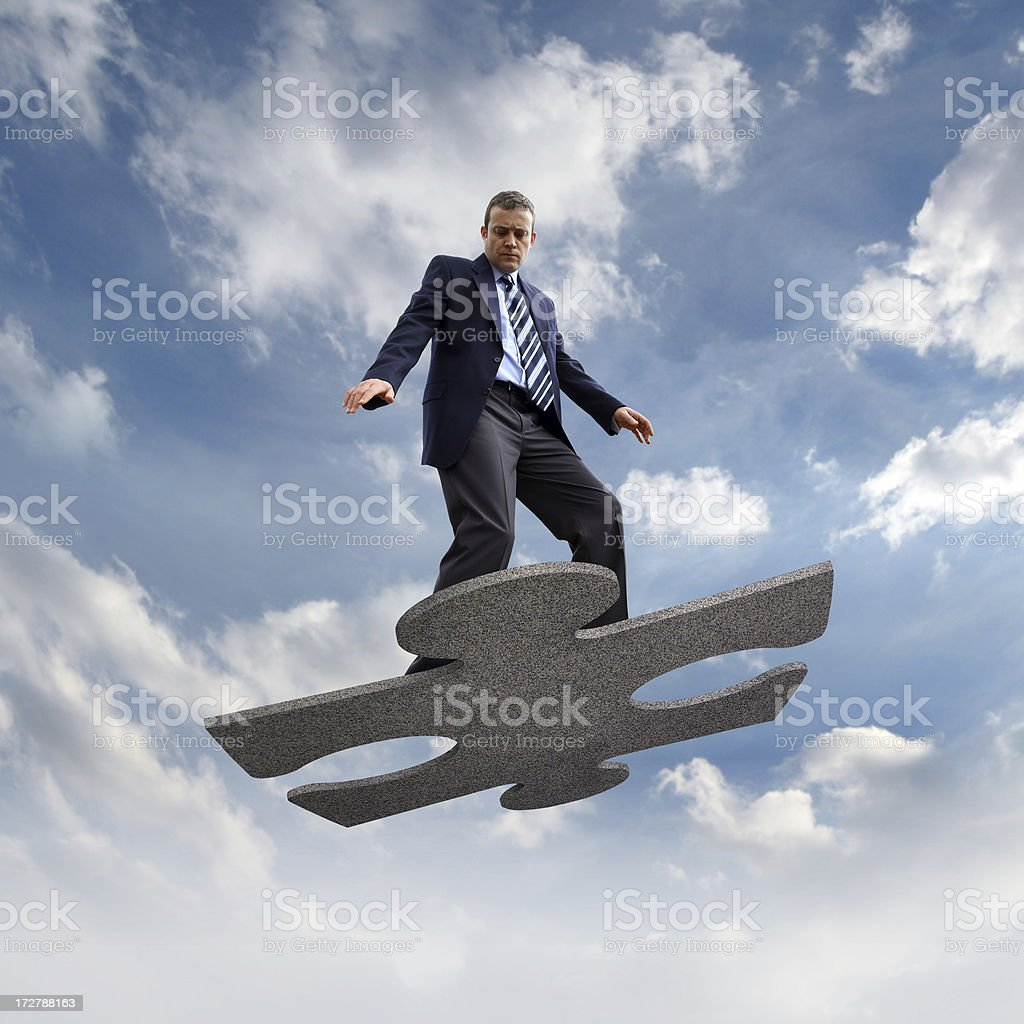 Flying Businessman royalty-free stock photo
