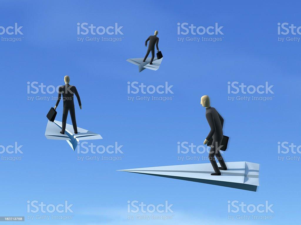 Flying Businessmen XL+ stock photo