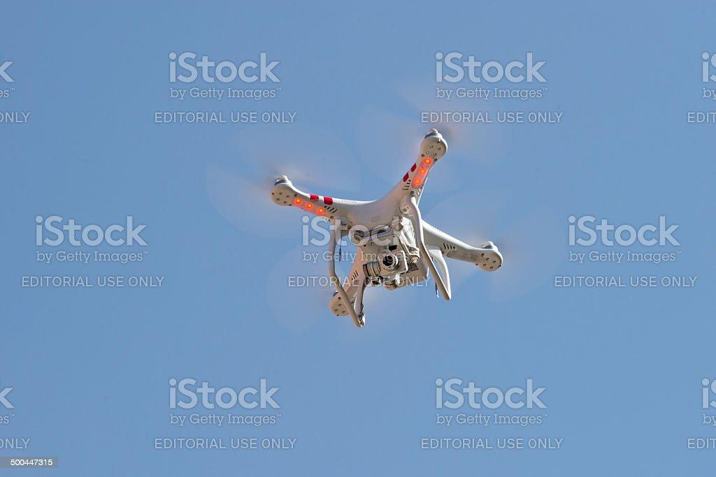 Flying camera stock photo