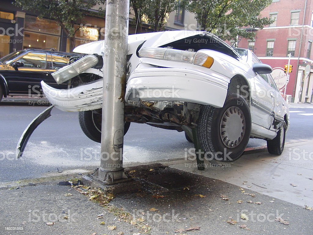 flying car experiment failure #4 stock photo