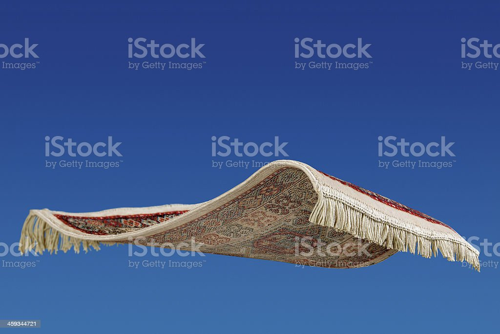 Flying carpet stock photo