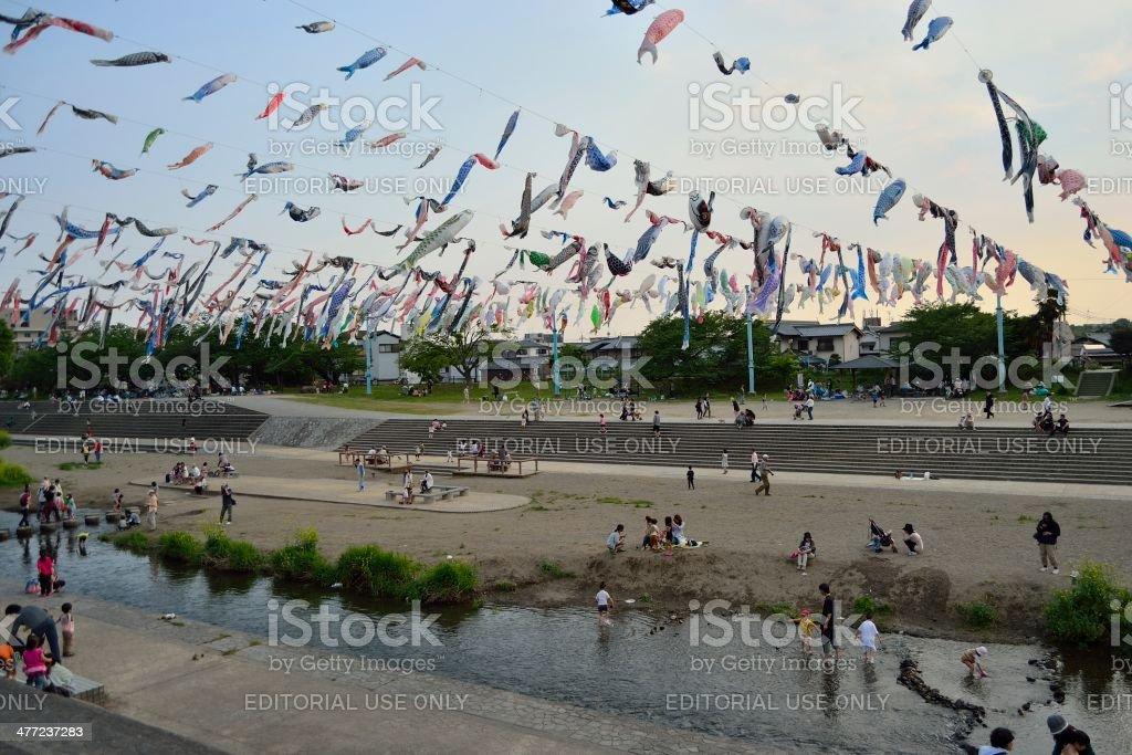 Flying Carps stock photo