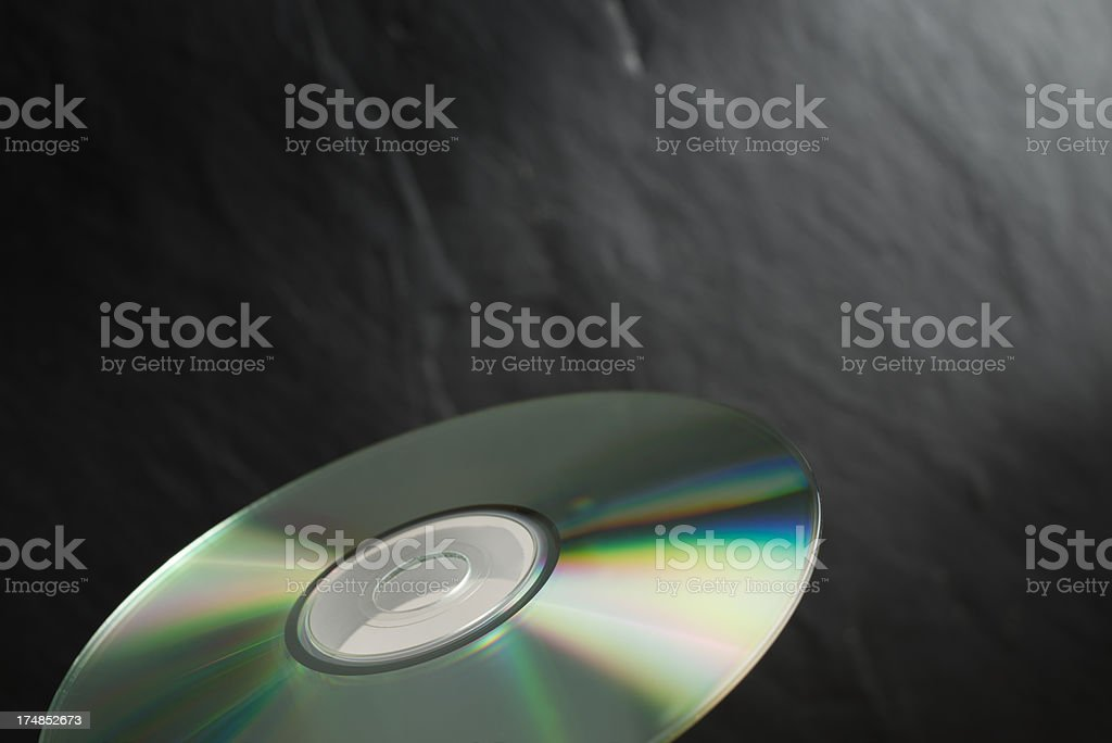 Flying CD or DVD royalty-free stock photo