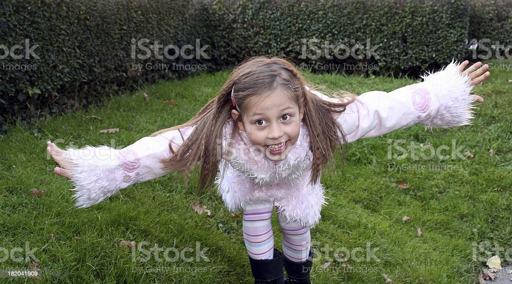 Flying child royalty-free stock photo