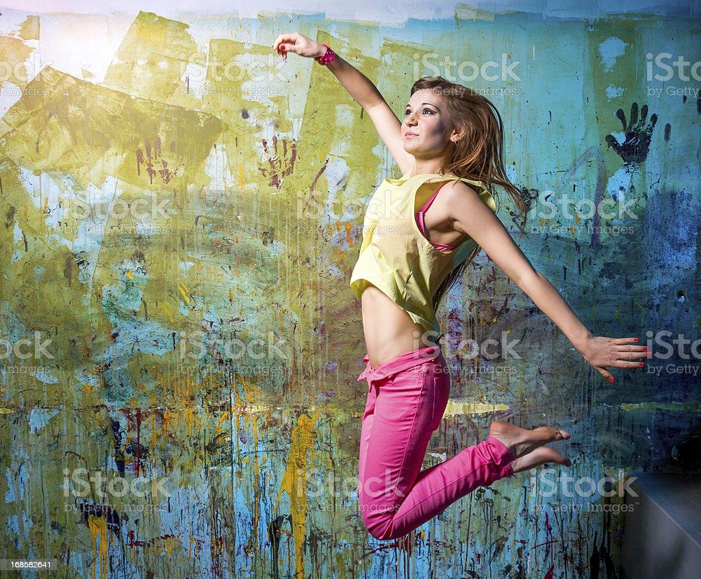 Flying dancer royalty-free stock photo