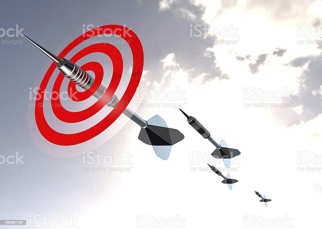 Flying Darts stock photo