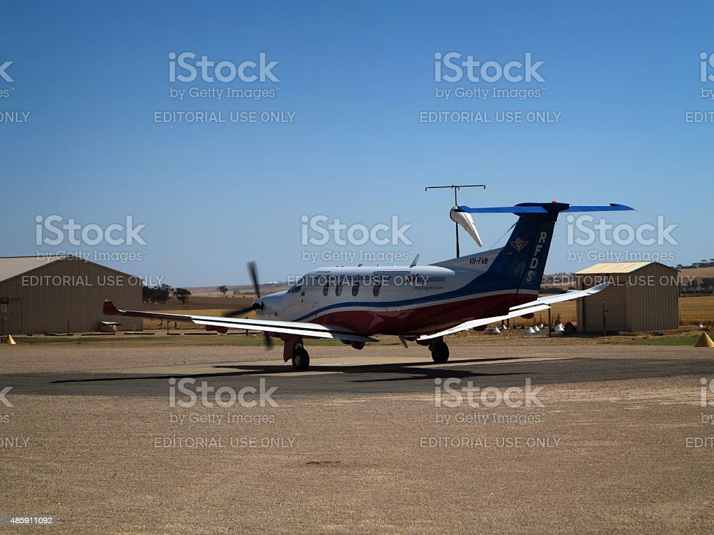 Flying Doctor Medivac Aircraft Australia stock photo