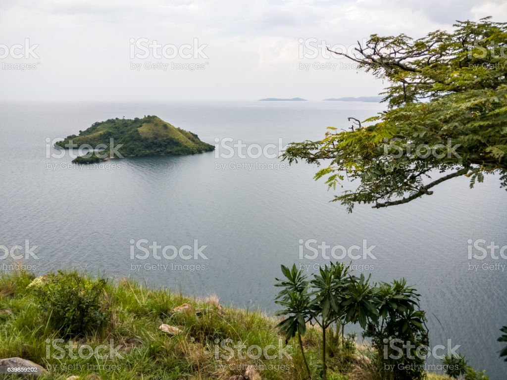 Flying dogs Island, Lake Kivu - Ruanda, africa stock photo