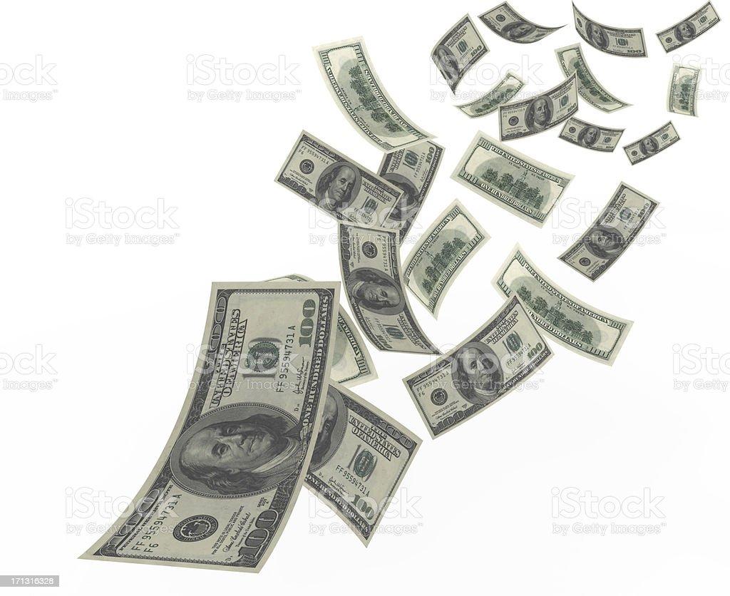 Flying Dollar stock photo