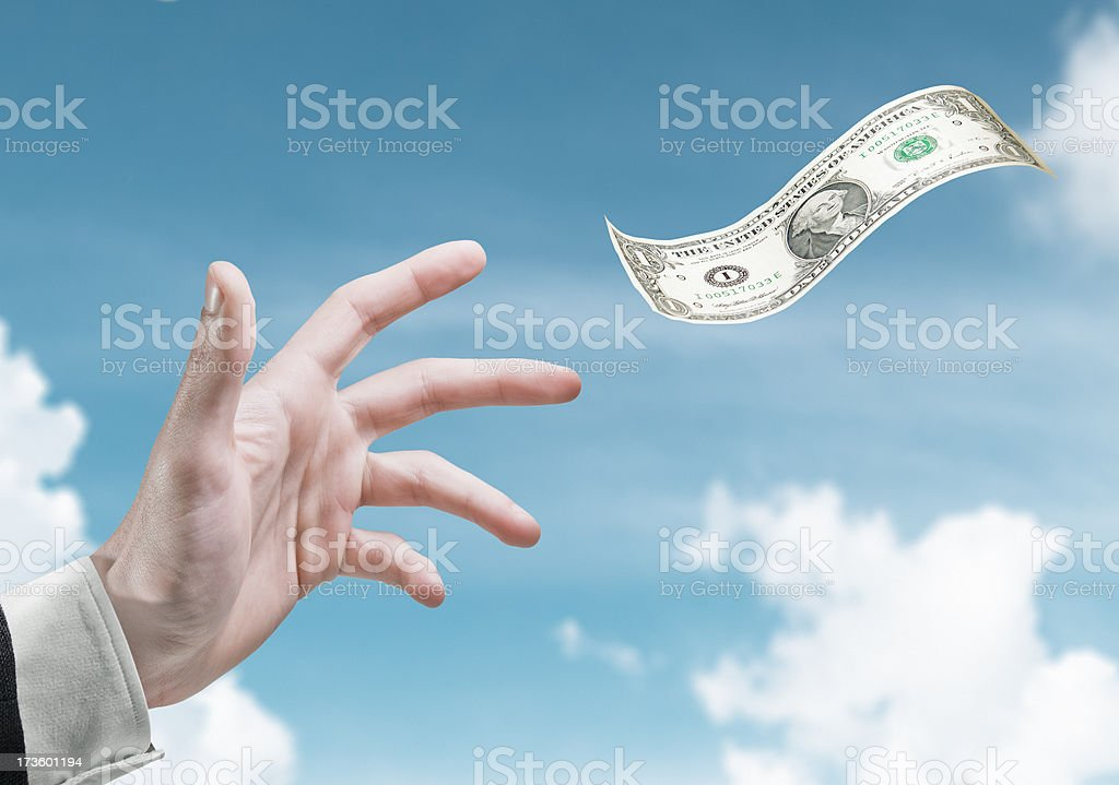 Flying Dollar royalty-free stock photo
