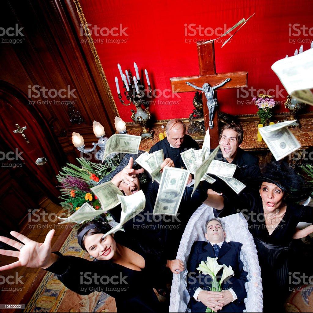 flying dollars royalty-free stock photo
