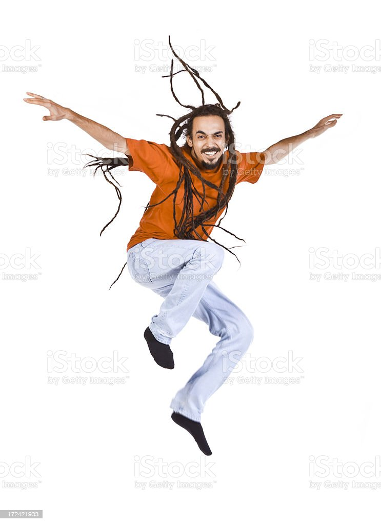 Flying DreadMan royalty-free stock photo