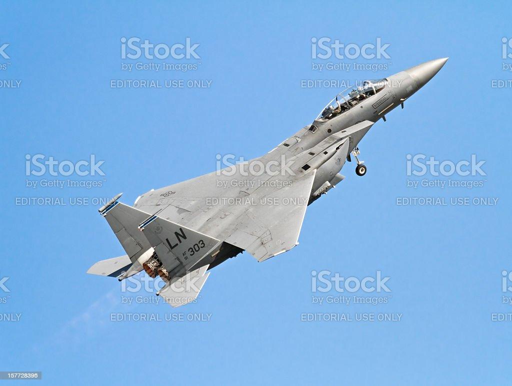 Flying F-15 stock photo
