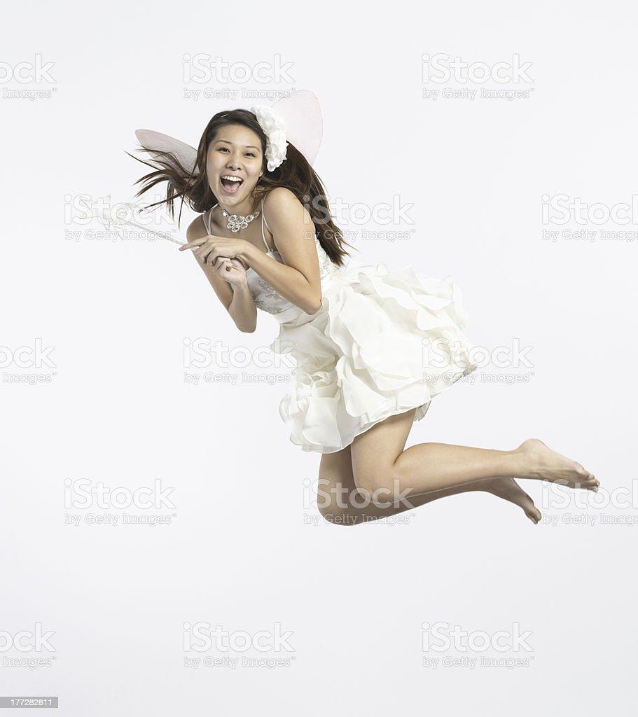 Flying fairy stock photo