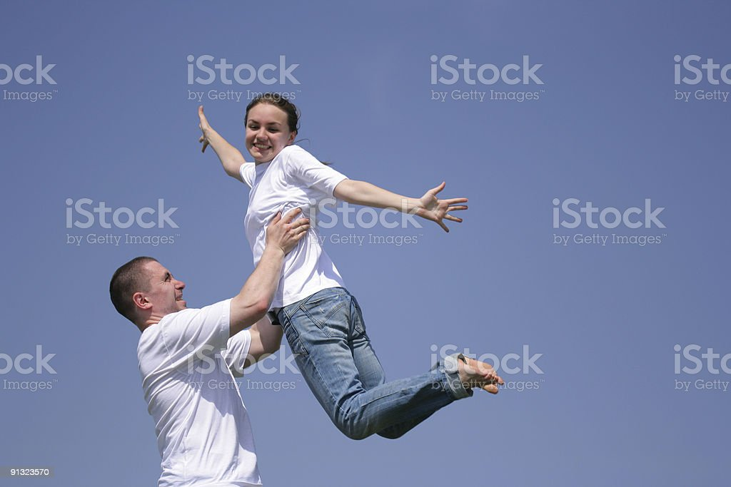 Flying girl royalty-free stock photo