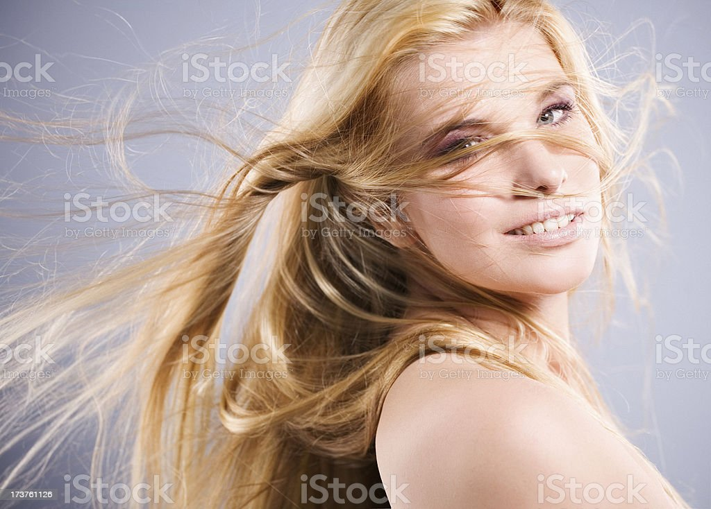 flying hair royalty-free stock photo