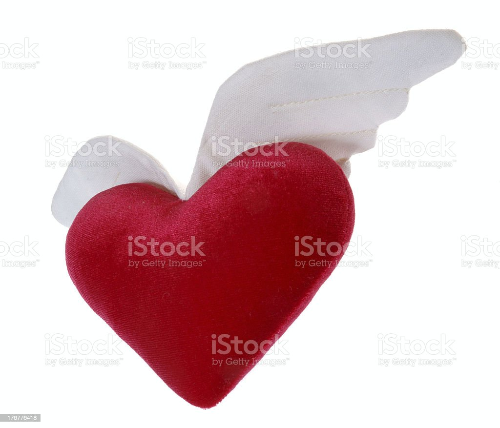 flying heart 2 stock photo