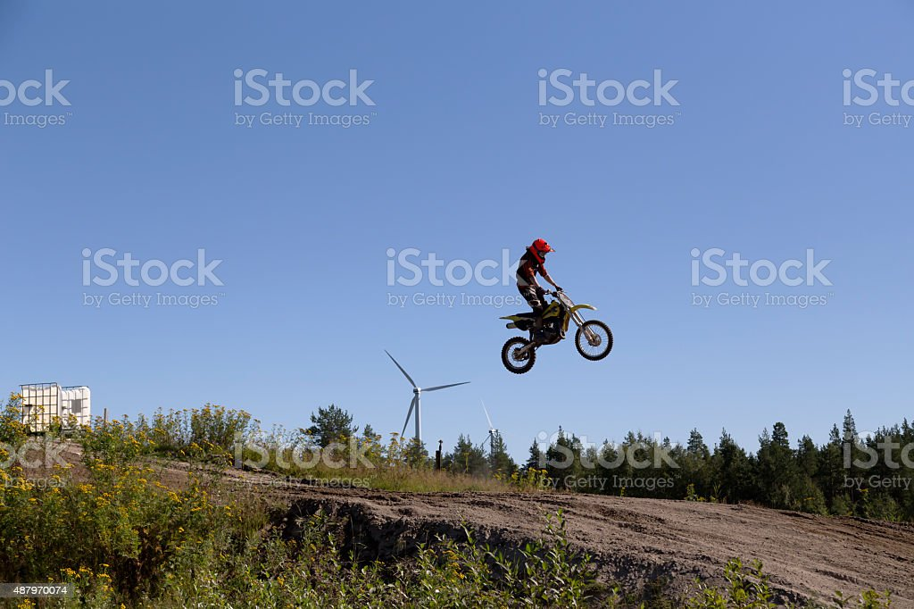 Flying high and long stock photo