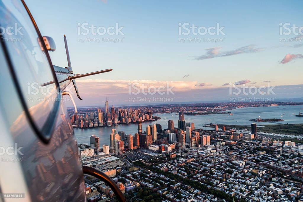 Flying High and Looking back! stock photo