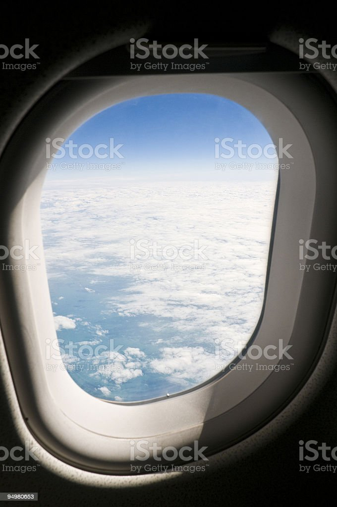 Flying high blue sky royalty-free stock photo
