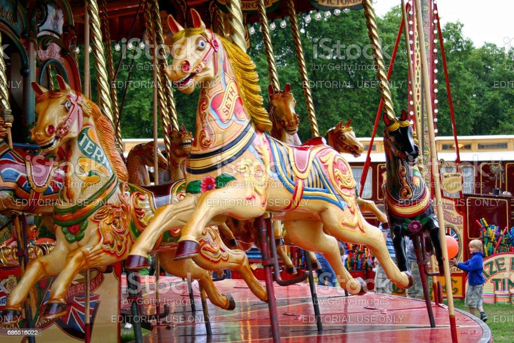 Flying horses stock photo
