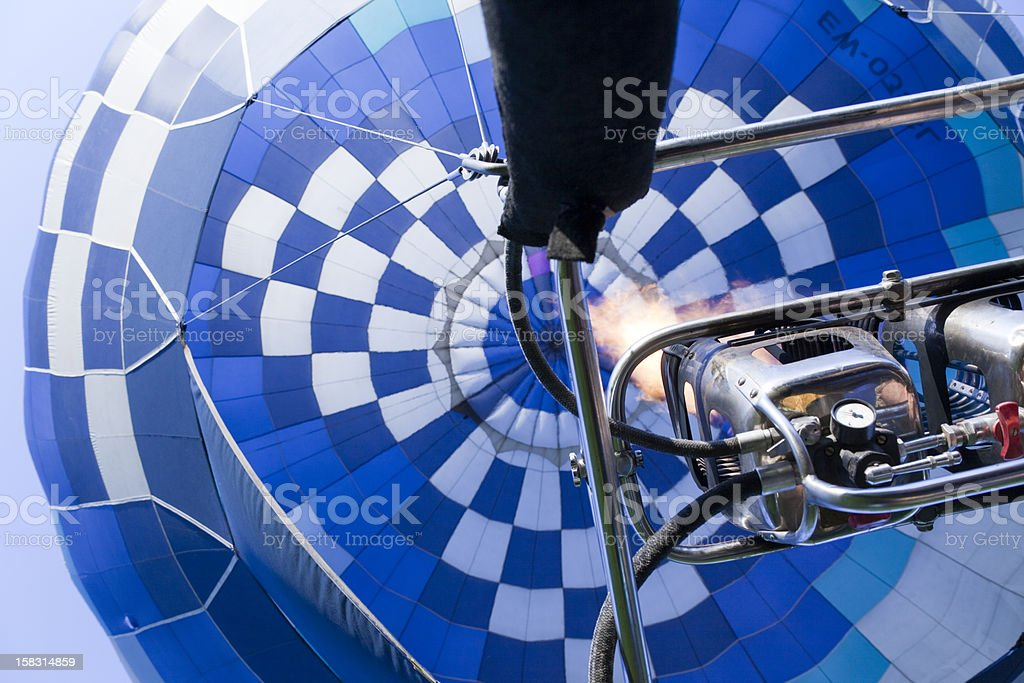 Flying Hot Air Balloon stock photo
