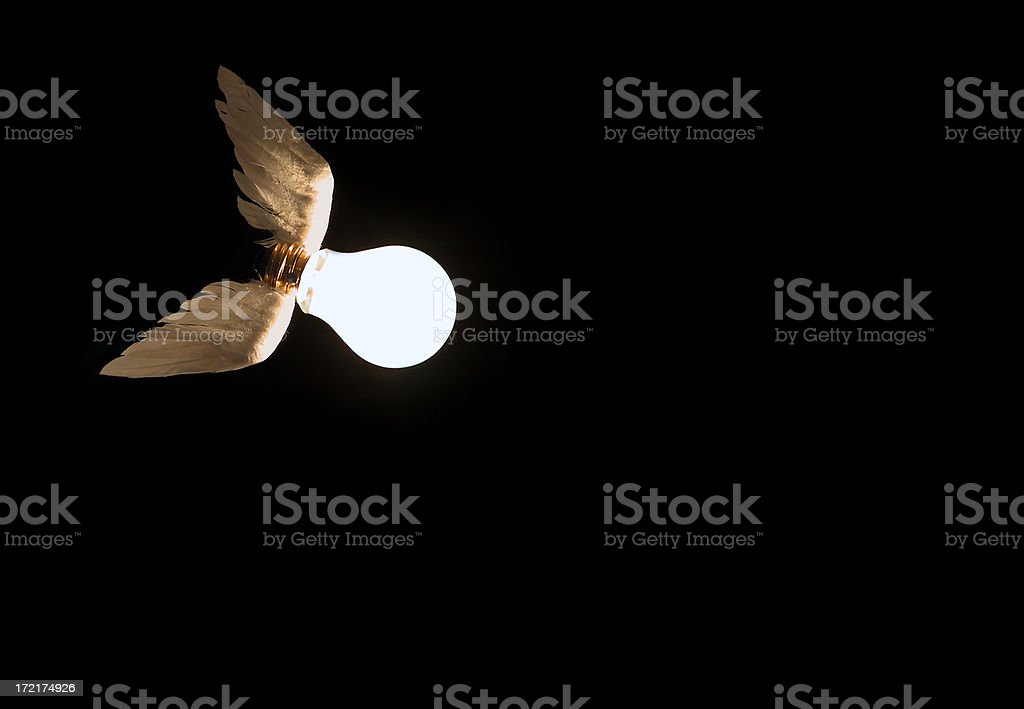Flying idea for a bright copy 2 royalty-free stock photo