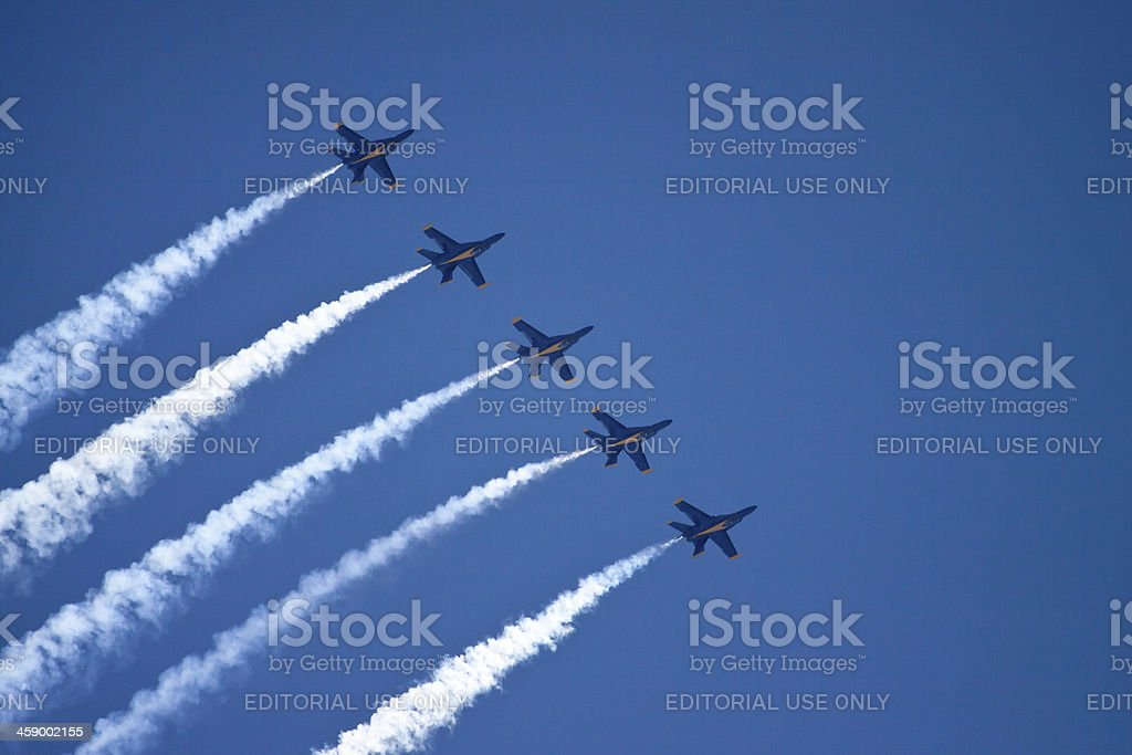 Flying In Formation stock photo