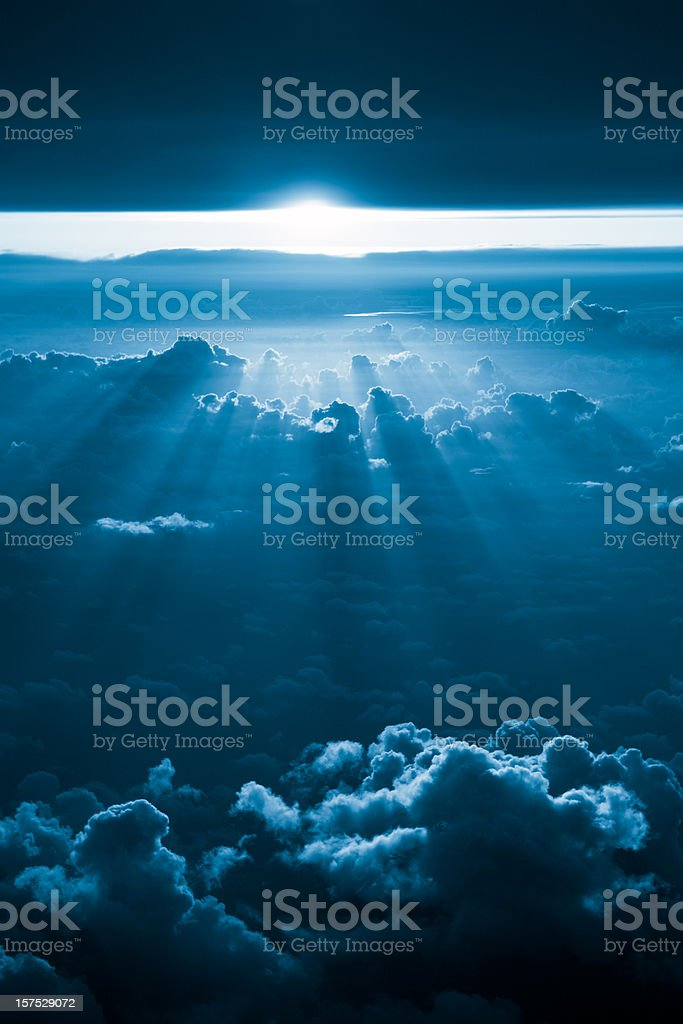 Flying in the sunbeams royalty-free stock photo